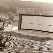 Bývalé letní kino okolo roku 1978