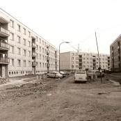 Výstavba sídliště - část sídliště, nové domy obydlené v r. 1976