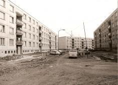 Výstavba sídliště - část sídliště, nové domy obydlené vr. 1976