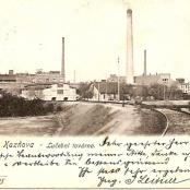 Pozdrav z Kaznějova - lučební továrna v roce 1905