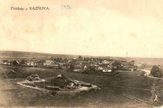 Kaznějov okolo roku 1906- pohlednice