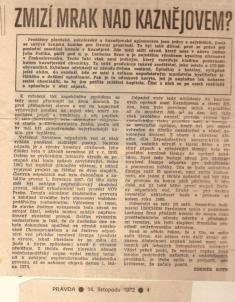 Co napsal denník PRAVDA oživotním prostředí vKaznějově dne 14.11.1972