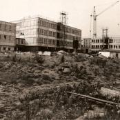 Výstavba nové školy 1976